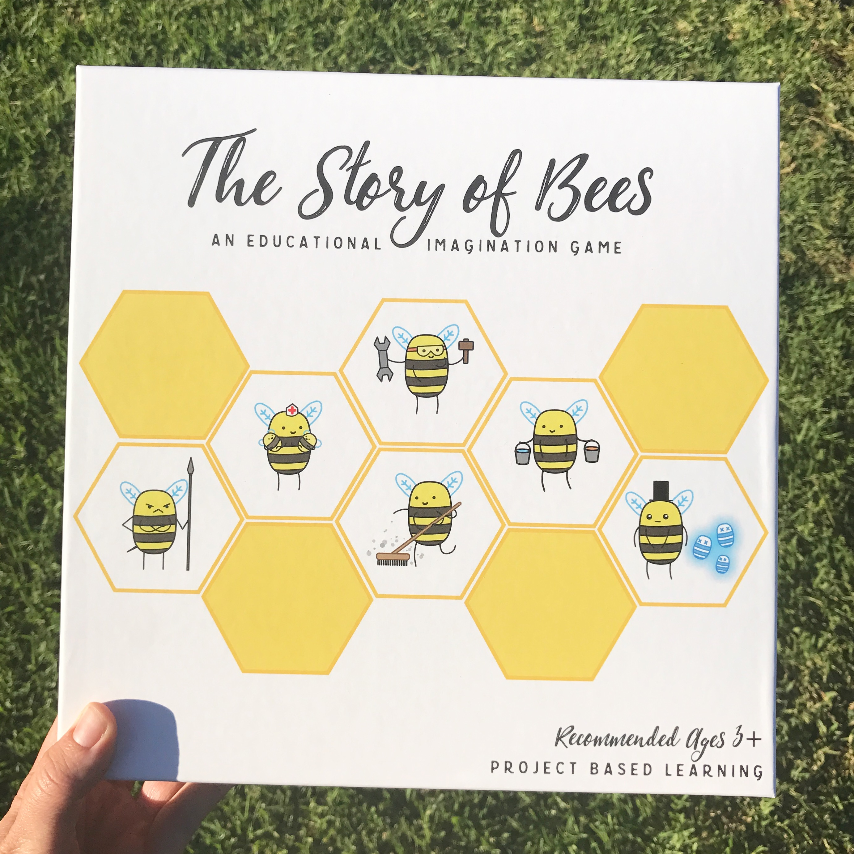 An educational game designed to teach kids all about honey bees!